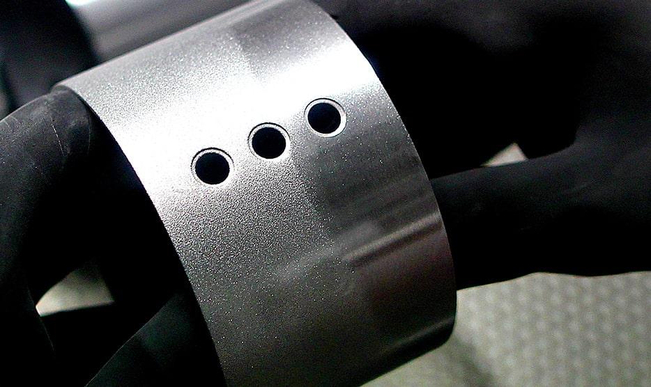 textured finish on aluminium aluminium bead blasting